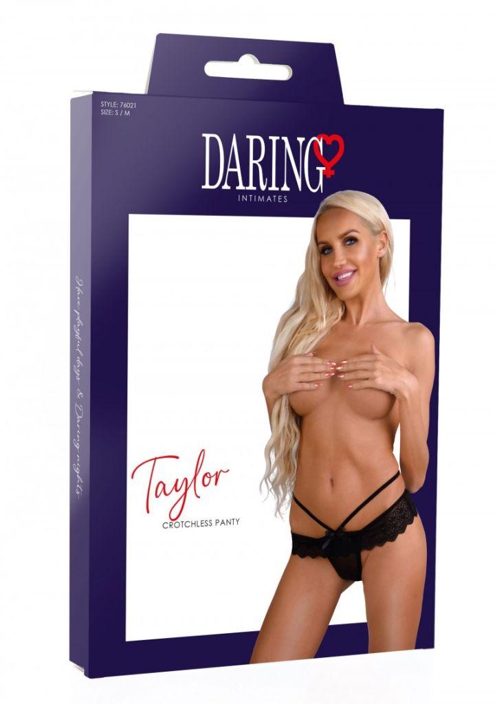 Daring Intimates Taylor black L/XL - kalhotky s otevřeným rozkrokem