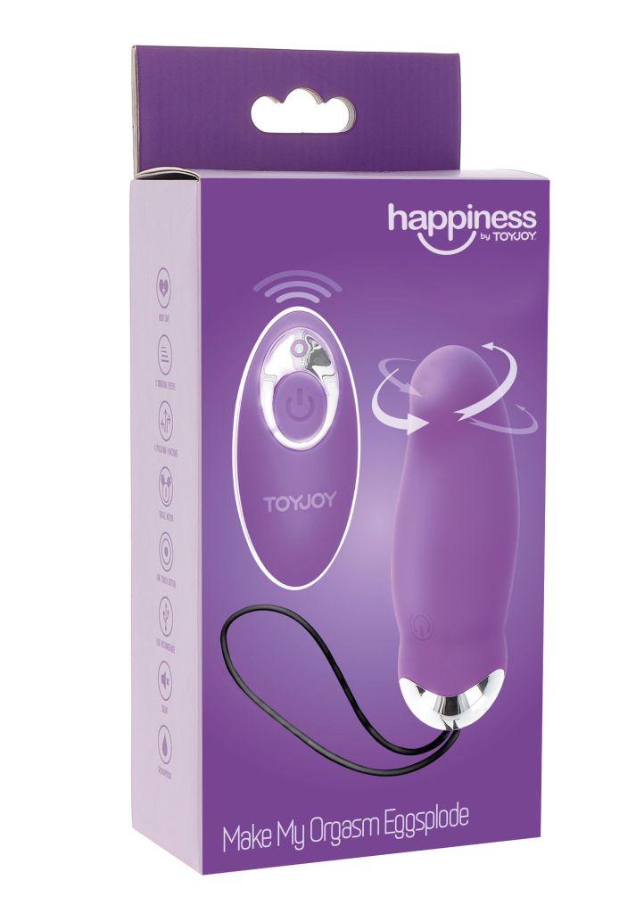 ToyJoy My Orgasm Eggsplode Remote Egg purple vibrační vajíčko