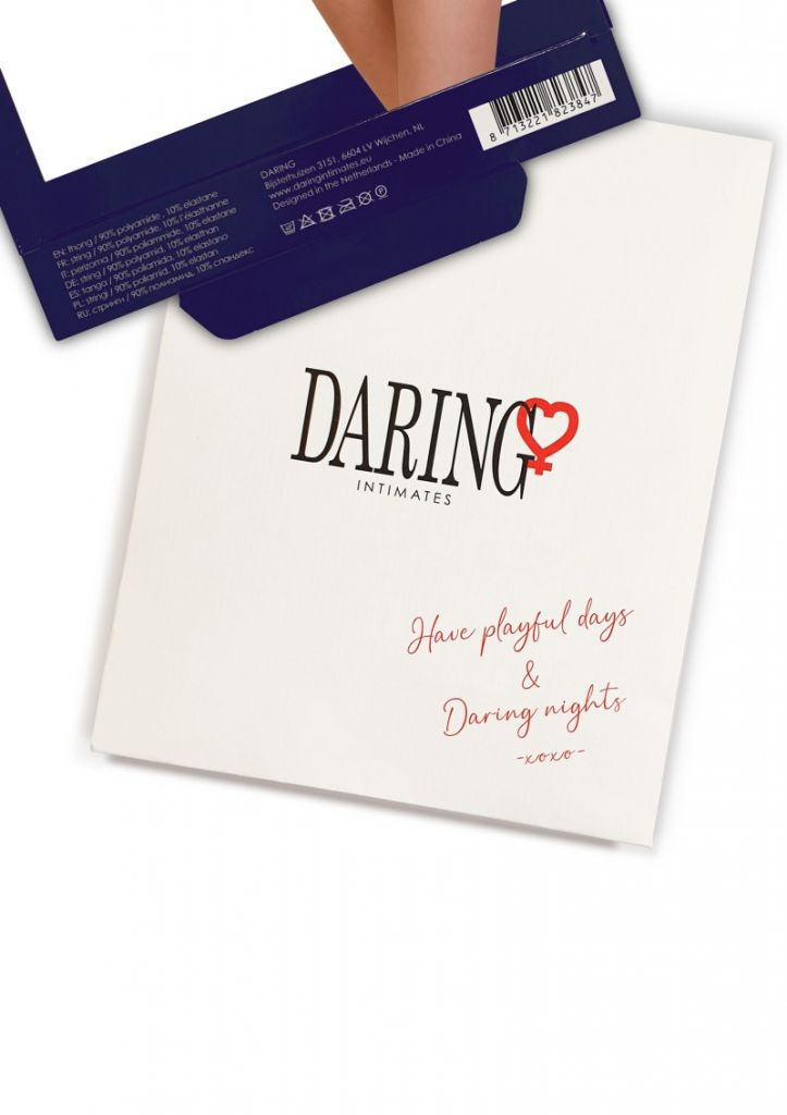 Daring Intimates Lucy red L/XL - tanga s otevřeným rozkrokem