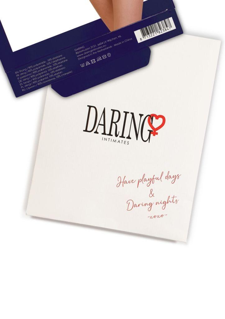 Daring Intimates Lucy red S/M - tanga s otevřeným rozkrokem