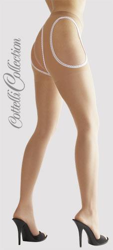 Punčochové kalhoty s dírou tělové - Cottelli Collection