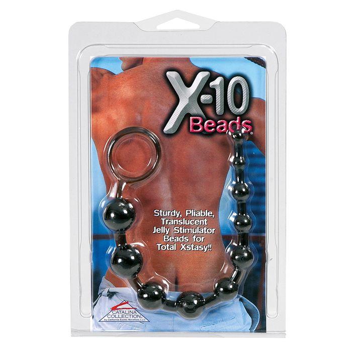 Calexotics X-10 Beads black anální kuličky