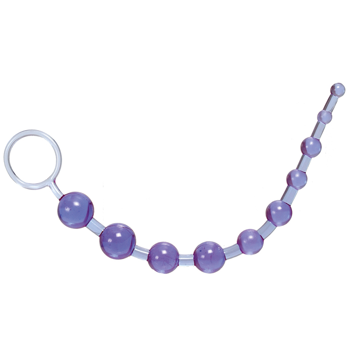 Anální kuličky X-10 Beads purple - California Exotic Novelties