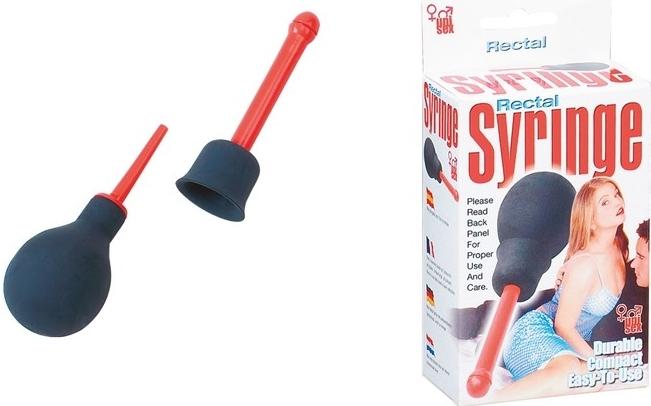 Anální sprcha Rectal Syringe pro vaginální a anální výplachy. Vodní sprcha je vhodná před análními hrátkami.