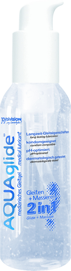 Lubrikační gel AQUAglide 2in1 125ml - JOYDIVISION