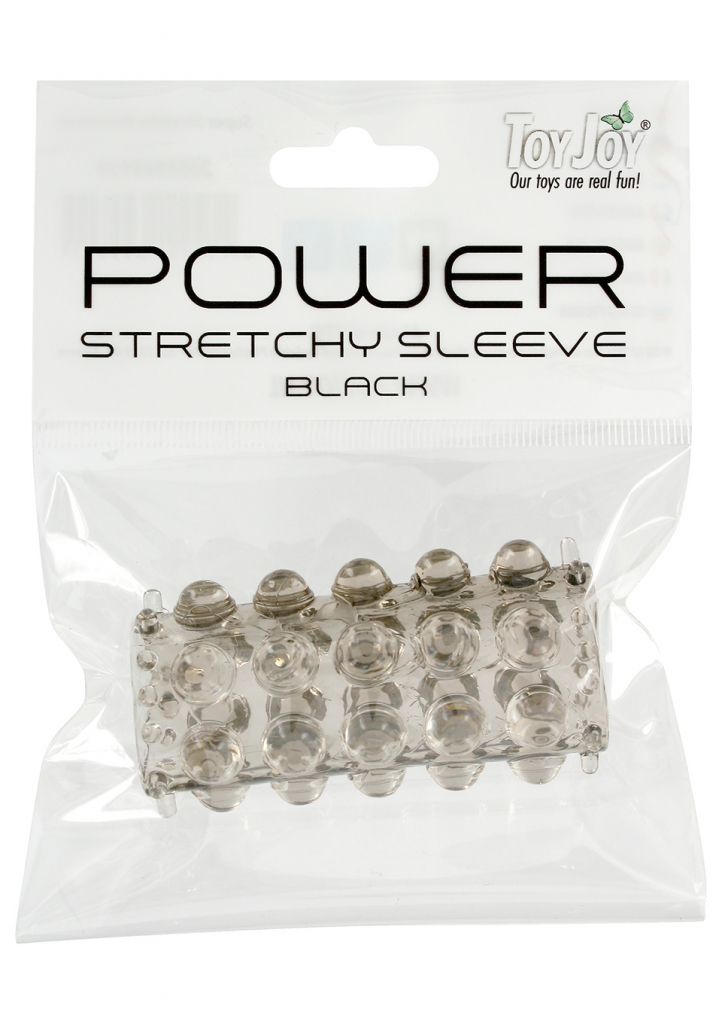 Návlek na penis Power Stretchy Sleeve Black - Toy Joy