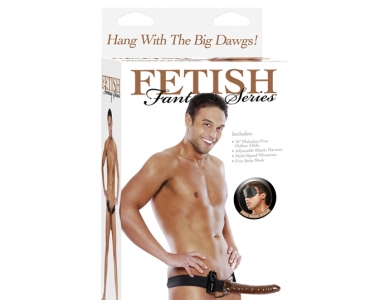 """Fetish Fantasy Vibrating Hollow strap on 10"""" chocolate - Pipedream"""