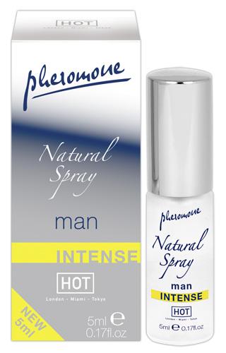 HOT Man Natural Spray Intense 5 ml Feromonový parfém pro muže