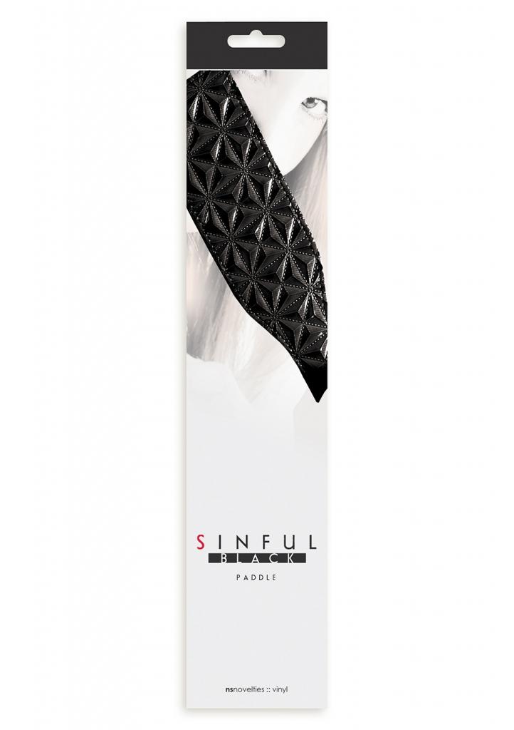 Plácačka Sinful Paddle black - NS Novelties, fotografie 1/1