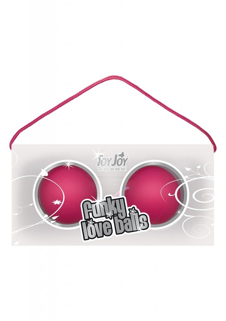 Venušiny kuličky Funky Love Balls pink - Toy Joy, fotografie 1/1