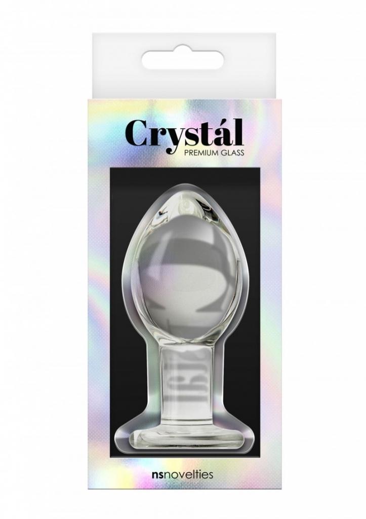 NS Novelties - Anální kolík Crystal Large Glass Plug