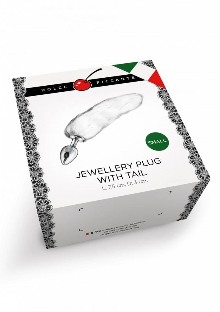 Dolce Piccante - Anální kolík Jewellery Plug with Tail purple