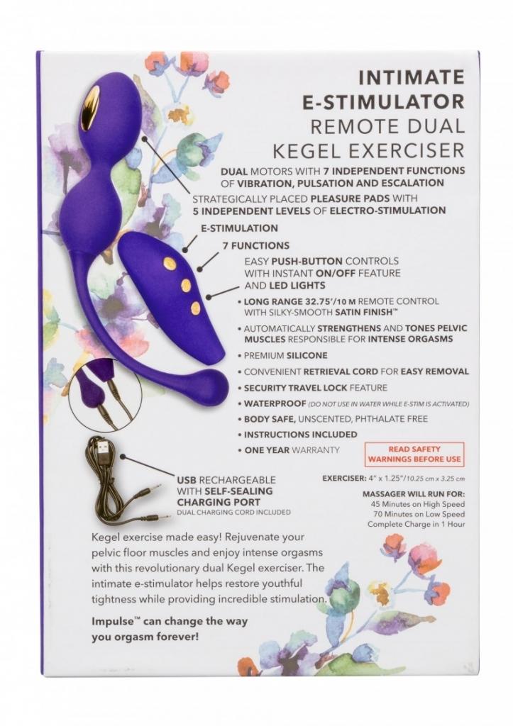 Calexotics - Elektrostimulační kuličky Impulse E-stim Remote Dual Kegel Exerciser