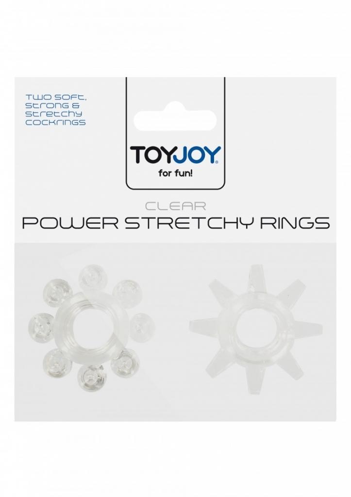 Erekční kroužky ToyJoy Power Stretchy Rings clear 2ks