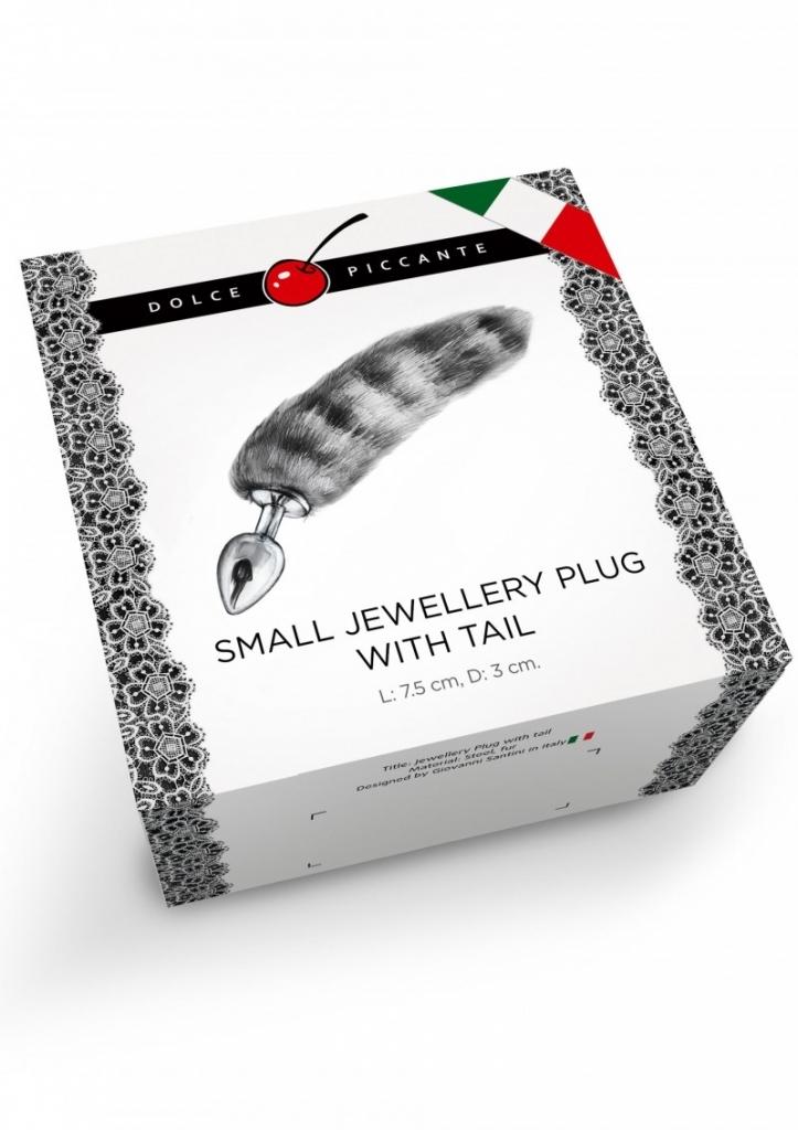 Dolce Piccante - Anální kolík Jewellery Plug silicone with Tail purple