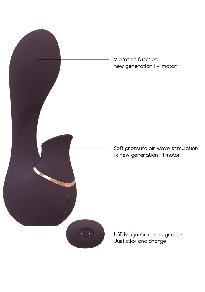 Shots - Irresistible Mythical purple vibrátor se stimulátorem klitorisu