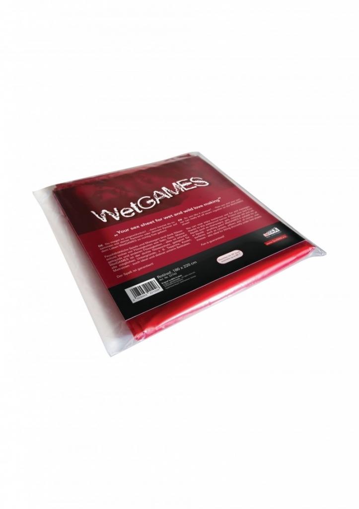 Joydivision SexMAX WetGAMES Prostěradlo vinylové červené