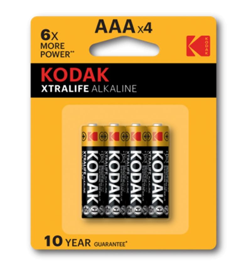 KODAK XTRALIFE alkalická baterie AAA 4 blistr 4 ks