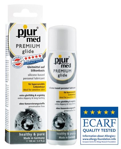 pjur med Premium glide nyní s oceněním ECARF jako produkt vhodný pro alergiky