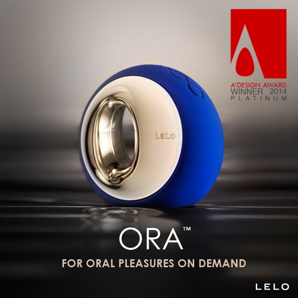 """Elegantní simulátor orálního sexu ORA od LELO vyhrává cenu na """"A'Design Awards"""" 2014"""