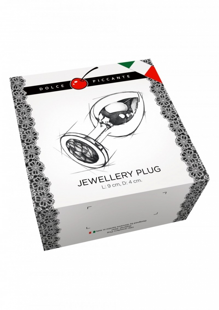 Dolce Piccante - Anální kolík kovový s krystalem Jewellery Large Silver Diamond silver