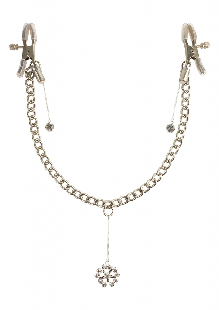 Pipedream Fetish Fantasy Crystal Nipple Clamps svorky na bradavky