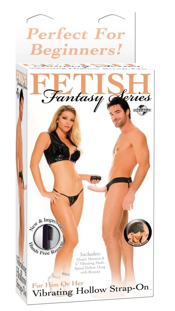 Pipedream Fetish Fantasy Vibrating Hollow strap on připínací penis vibrační