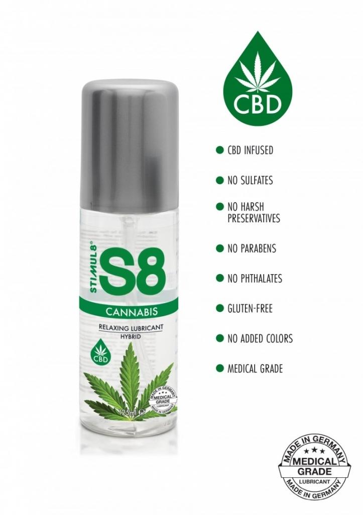 Stimul8 - S8 Cannabis Hybridní Lubrikant 125ml