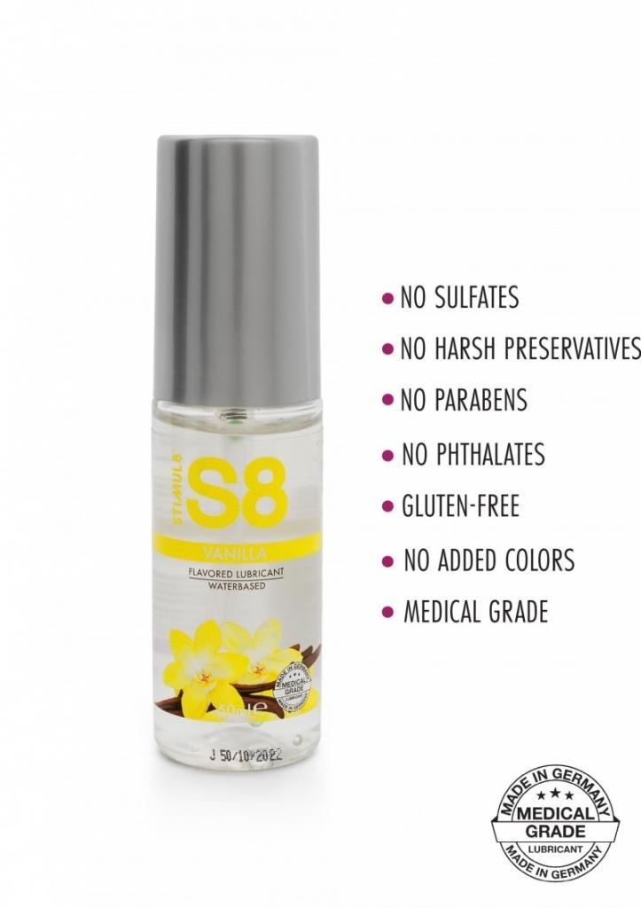 Stimul8 - S8 Lubrikant na vodní bázi s příchutí vanilka 50ml
