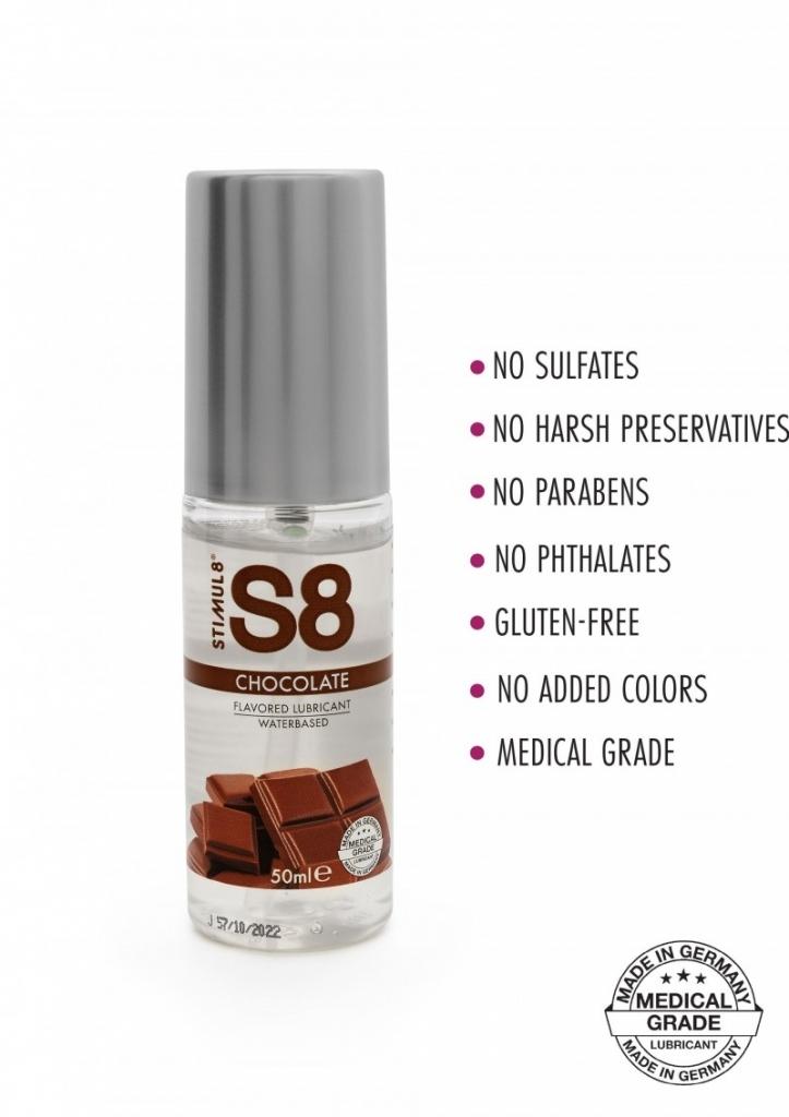 Stimul8 - S8 Lubrikant na vodní bázi s příchutí čokoláda 50ml