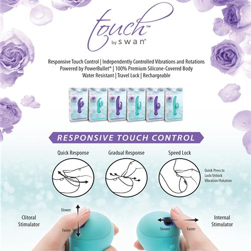 Swan Touch Trio purple vibrátor