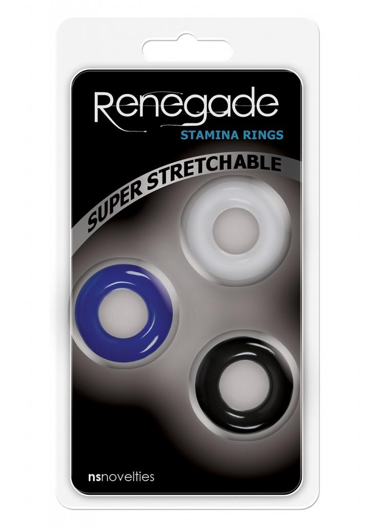 NS Novelties Renegade Stamina Rings kroužky na penis sada 3ks