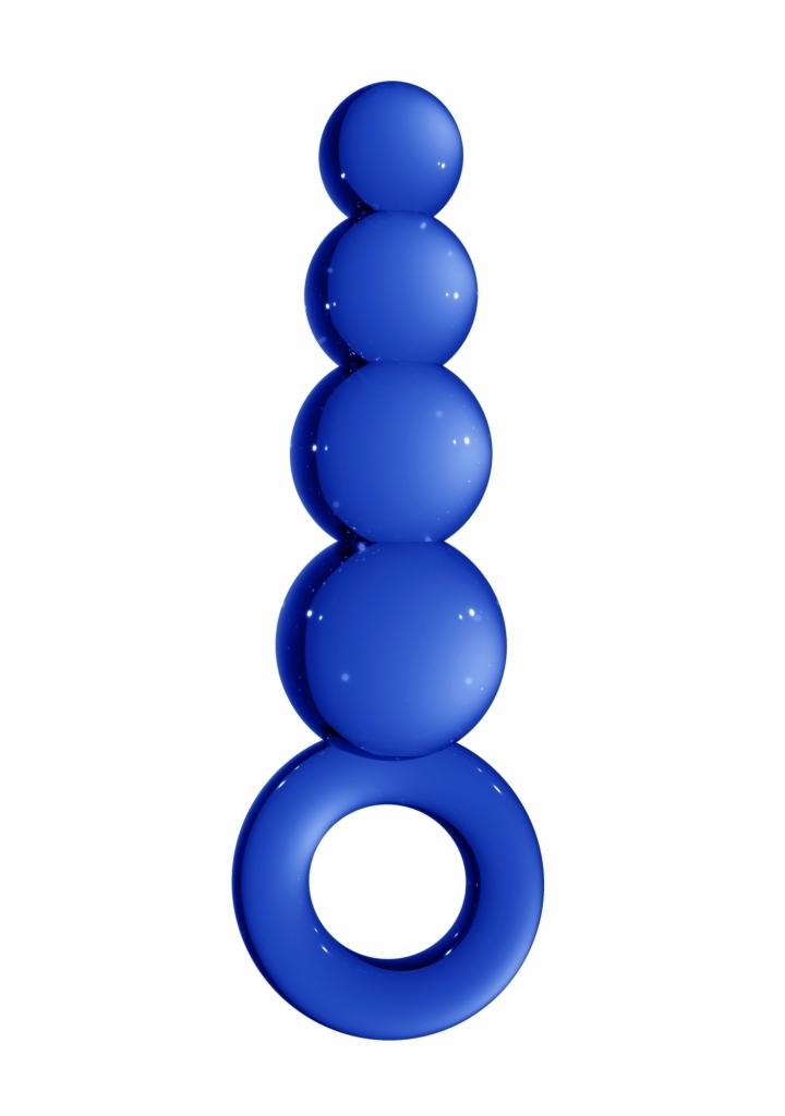 Shots Chrystalino Stargate blue skleněné dildo