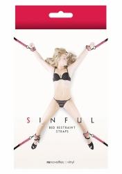 NS Novelties Sinful Bed Restraint Straps pink