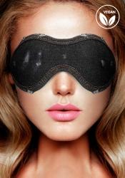 Shots - Ouch! Denim Eye Mask Black maska na oči