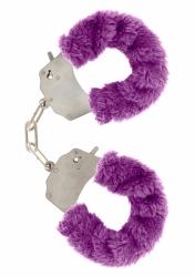 ToyJoy Furry Fun Cuffs pouta na ruce plyšová fialová