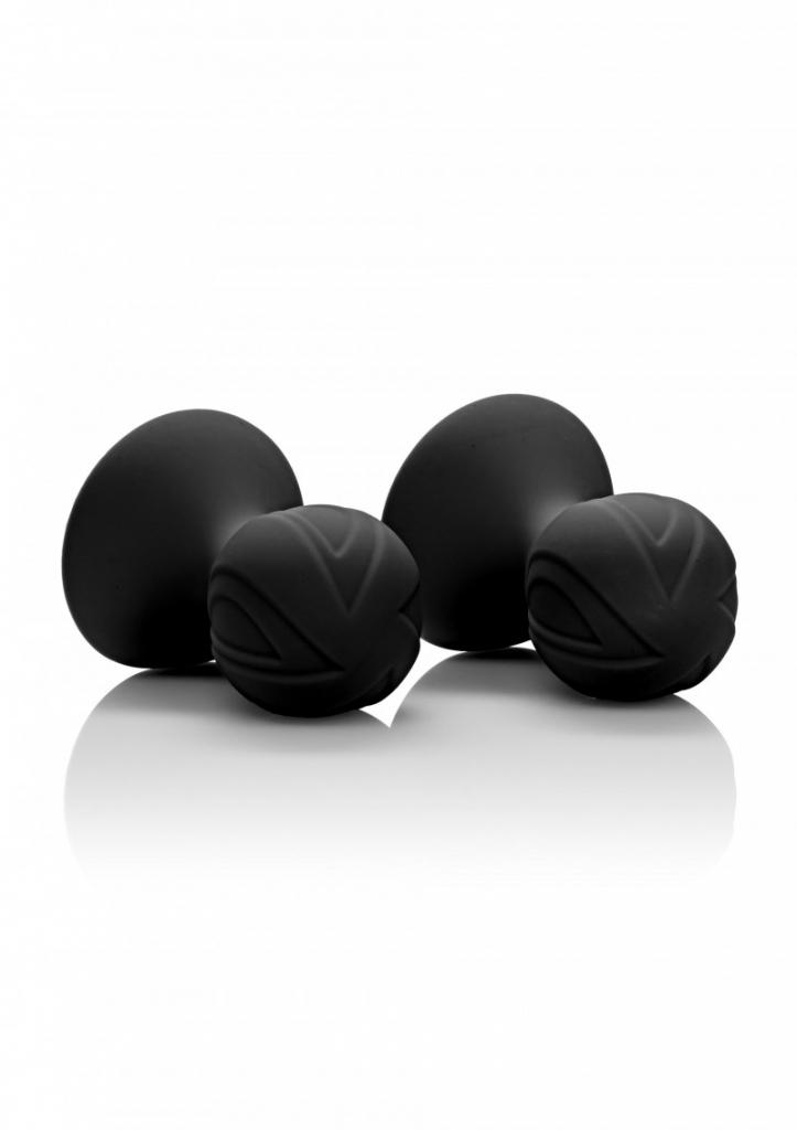 Calexotics Silicone Pro Nipple Suckers Přísavky na bradavky černé