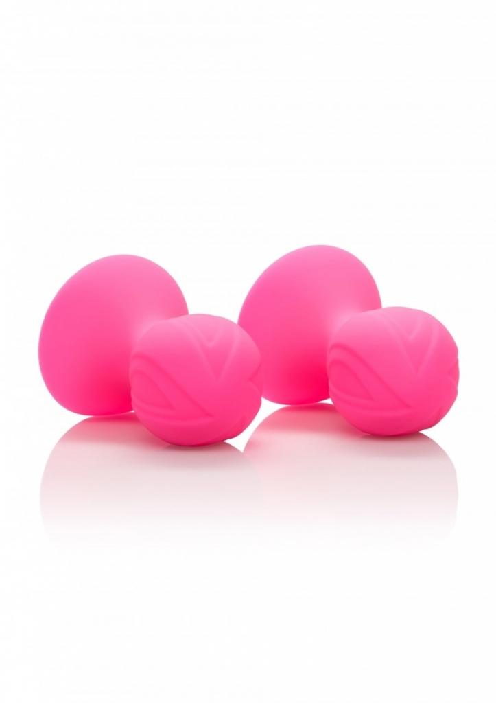 Calexotics Silicone Pro Nipple Suckers Přísavky na bradavky růžové