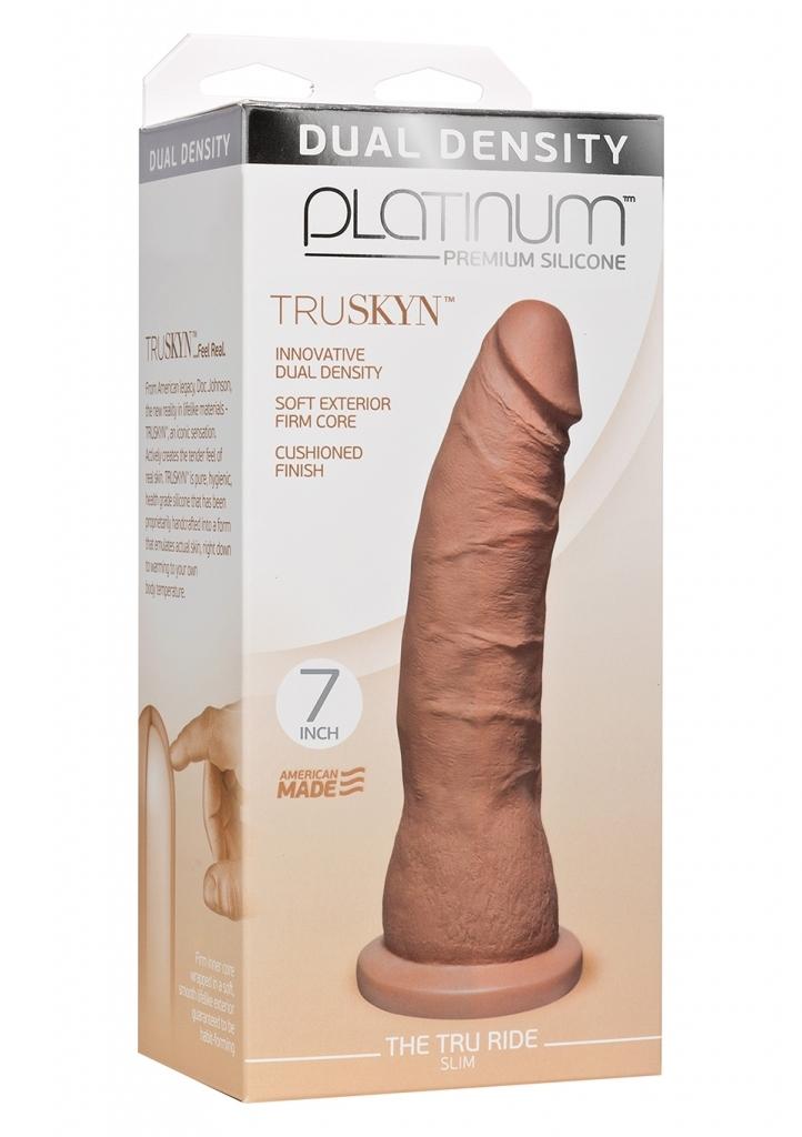 Doc Johnson Platinum TRUSKYN The Tru Ride Slim 7