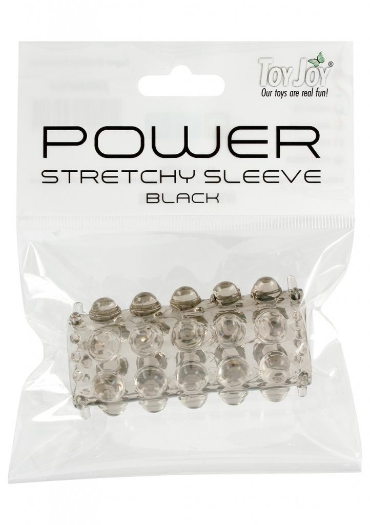 ToyJoy Power Stretchy Sleeve Black návlek na penis