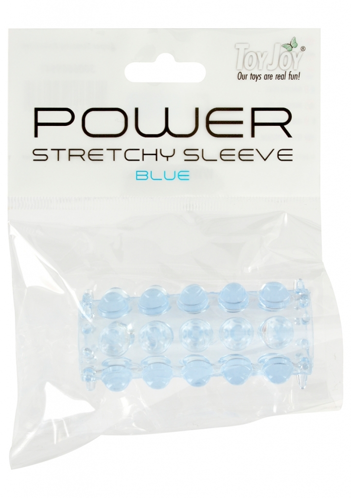 ToyJoy Power Stretchy Sleeve Blue návlek na penis