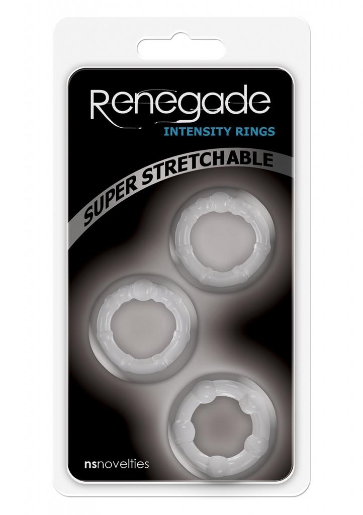 NS Novelties Renegade Intensity Rings Clear kroužky na penis sada 3ks