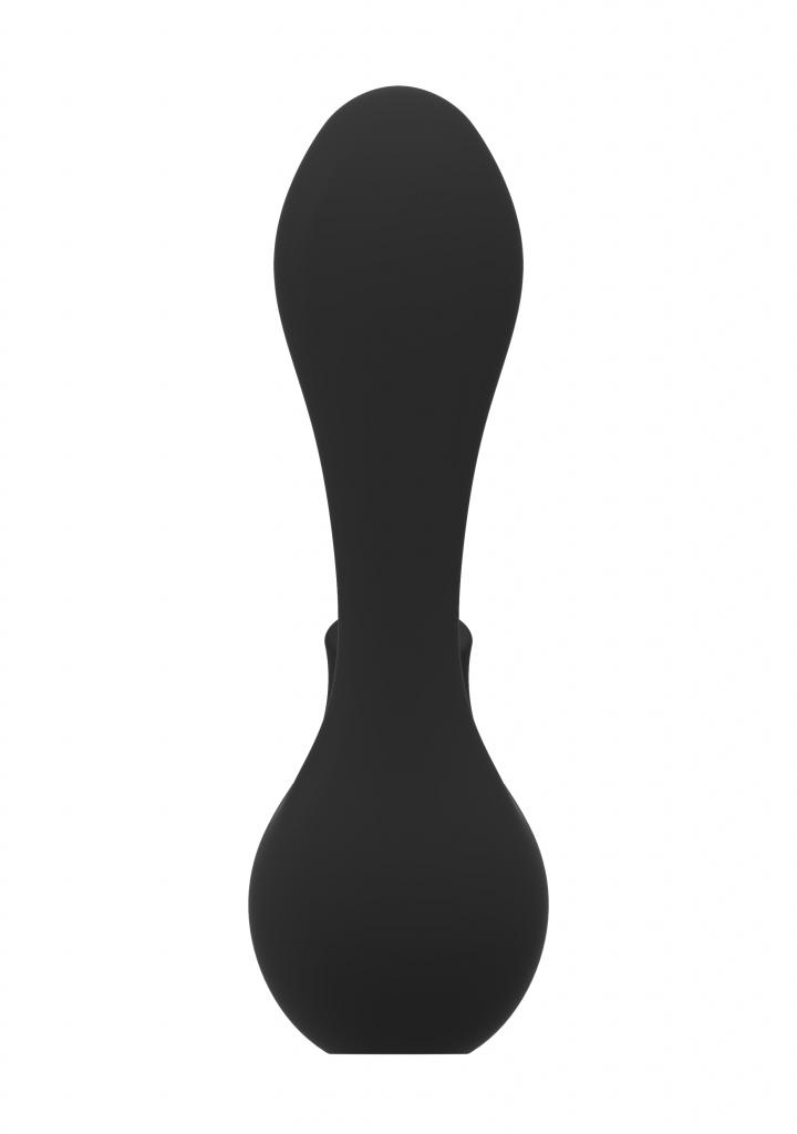 Shots - Irresistible Mythical black vibrátor se stimulátorem klitorisu