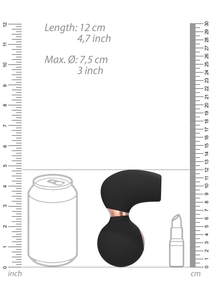Shots - Irresistible Invincible black stimulátor klitorisu
