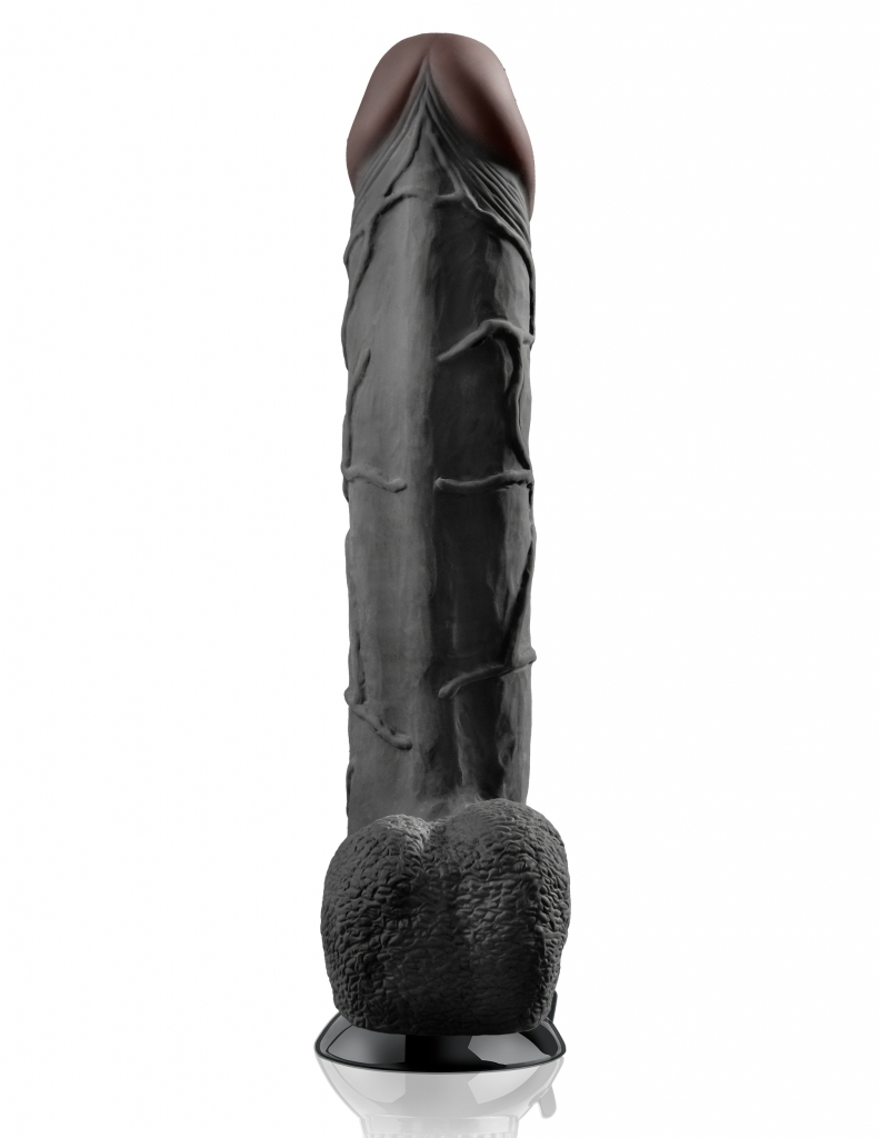 Pipedream Real Feel Deluxe 12 black vibrátor XXL
