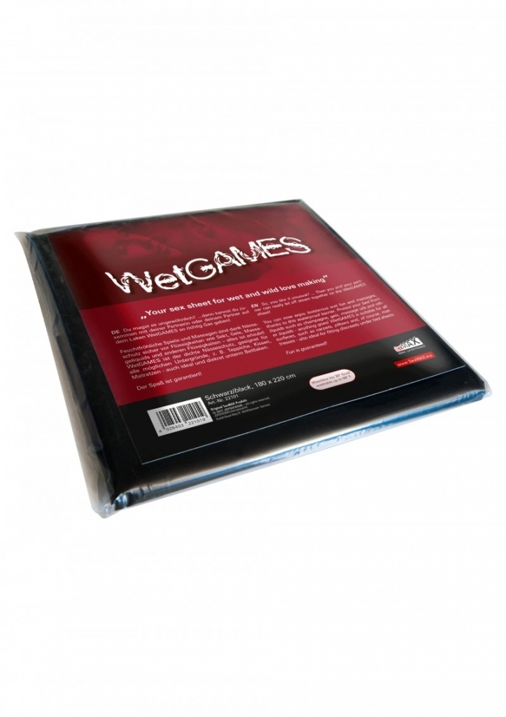 Joydivision SexMAX WetGAMES Prostěradlo vinylové černé